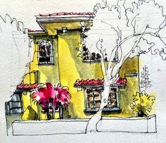 April Sketchcrawl, Barrio Amon, Casa Amarilla, San José, Costa Rica