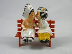 Vintage Native Kissing Couple Salt and Pepper by TheShakerShoppe