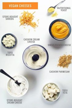 Guide to Vegan Cheese Vegan Cheeses. There are so many great dairy free alternatives out there. I love these recipes.Love Is Love Is may refer to: Vegan Cheese Recipes, Vegan Sauces, Vegan Foods, Vegan Dishes, Raw Food Recipes, Cake Recipes, Cashew Cheese, Vegan Lunches, Dishes Recipes