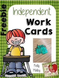 Freebie!Do you ever have kids waving their hands wildly or even worse, following you around the room while they are supposed to be working independently?  If the answer is yes, you will love this freebie!Each of my students have a ring of cards that they display on their tables as they are working.