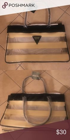 Guess beach bag/tote Great bag. New condition, never used guess Bags