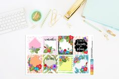 A Moment in the Tropics Planner Stickers Full by TheCleverDesign