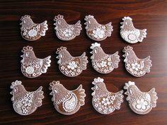 Velikonoce - perníčky 2010 – medove-pernicky – album na Rajčeti Food Plating, Cookie Decorating, Gingerbread, Food And Drink, Clay, Ceramics, Cookies, Biscotti, Sweet