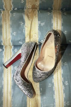 Glittery, holiday shoes.