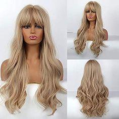 Fancy Hairstyles, Vintage Hairstyles, Hairstyles With Bangs, Braided Hairstyles, Long Hair Wigs, Wigs With Bangs, Halloween Fancy Dress, Blonde Wig, Pastel Hair