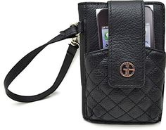 Giani Bernini Womens Leather Quilted Front Wristlet Wallet Black O/S Giani Bernini, Wristlet Wallet, Sling Backpack, Backpacks, Handbags, Wristlets, Womens Fashion, Leather, Stuff To Buy