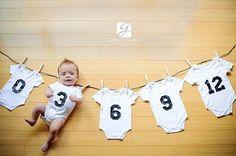 18 ideias Criativas Para Fotografar o Crescimento do Bebê Mais