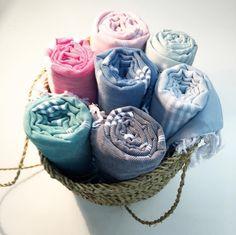 zachte hamamdoeken in heel veel kleuren.