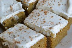 Angela's Adventures: Pumpkin Bars with Cream Cheese Frosting