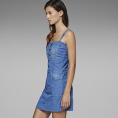 G-Star RAW | Women | Dresses | MIDGE DRESS , Comfort Pounce Denim
