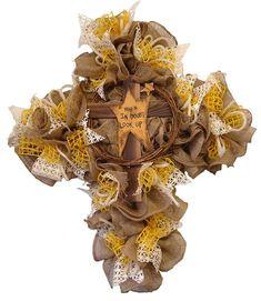 Twig Cross with Burlap Video Tutorial by Trendy Tree #trendytree #burlap #cross