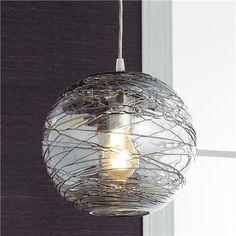 "11"" round $199.00  Swirling Glass Globe Pendant Light"
