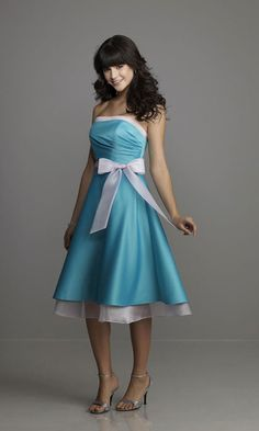 Great length. I like the white trim and sash, but could do without the bow!