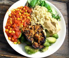 Oppskrift Chana Masala, Hummus, Cobb Salad, Quinoa, Vegetarian, Ethnic Recipes, Food, Vegans, Essen