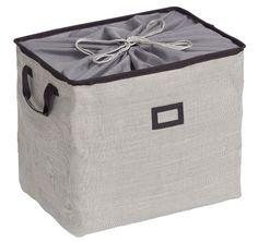 Wenko 2430012100 Foldable Closeable Storage Box, 50 x 37 x 40 cm, Cool Grey Storage Boxes, Bag Storage, Quilted Purse Patterns, Organizar Closet, Diy Bag Designs, Circle Purse, Diy Christmas Presents, Fabric Boxes, Sewing Basics