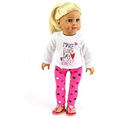 American Fashion World 'Make Everyday Sweet' Valentine's Outfit for Doll Valentines Outfits, Whimsical Fashion, Cute Toys, Rubber Duck, Kids Toys, Doll Clothes, Dolls, Children, Day