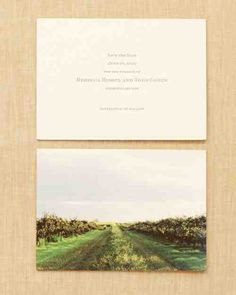 Though the couple is Manhattan based, they treated their Bridgehampton, New York, nuptials as a destination wedding. To set the tone, Rebecca and Todd sent letterpressed save-the-dates. On the back, stationer Julie Holcomb created a giclee print of the spot where the couple would tie the knot.