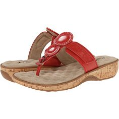 SoftWalk Beaumont Red Soft Dull Leather - 6pm.com
