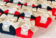 Wedding Candy Table, Candy Wedding Favors, Wedding Gifts For Guests, Wedding Favor Boxes, Fun Wedding Invitations, Handmade Wedding Favours, Elegant Wedding Favors, Personalized Wedding Favors, Blue Red Wedding