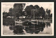 schöne AK Nest, Fischerkaten am Jamunder See