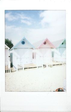ix - pale pastel beach huts   fuji instax mini 8 with fujifi…   Flickr Fuji Instax Mini 8, Instant Print Camera, Instax Camera, Beach Huts, Card Sizes, Fujifilm, Pastel, Photos, Cake