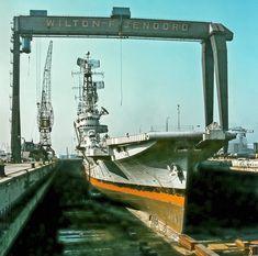 Karel Doorman at the dock of Wilton-Fijenoord. Photo provided by Arie Boevé