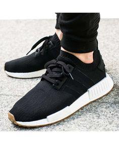 890098f2e33f3 Adidas NMD R1 Primeknit Gum Pack Black White Brown Mens Shoes Adidas Men