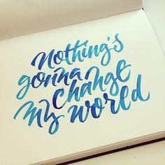"""Nothing's gonna change my world. #beatles #music #quote"" @thibellotti"