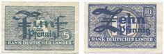 5 + 10 Pfennig (Kleingeldersatznoten) Set 2 Werte