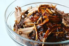 Slow Cooker Balsamic Honey Pulled Pork from justataste.com #recipe