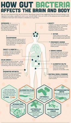 How #Gut #Bacteria Affects The Brain And Body. #health