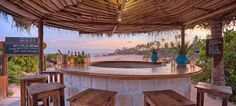 Bar area at Matemwe Lodge, Zanzibar