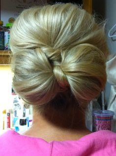 bow bun. way cuter than the one on top of your head.