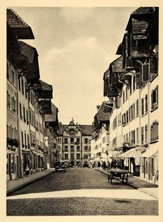 1938 Aarau Swiss Design, Most Beautiful Cities, The Past, Louvre, City, Building, Places, Travel, Beauty