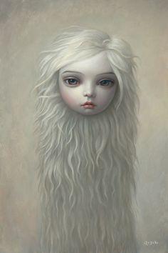 Surrealism art by Mark Ryden, illustrations. Fur Girl (No. 84), Oil on canvas, 76.2 x 50.8 cm. (30 x 20 in.), 2008. Copyright Mark Ryden/ Courtesy Taschen.