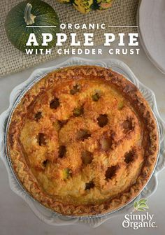 Organic Apple Pie with Cheddar Crust recipe #RecipeRemix | www.simplyorganic.com/holidays