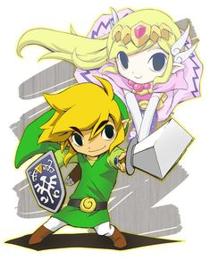 The Legend of Zelda: Toon Link & Toon Zelda