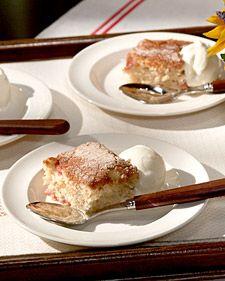 Marijane's Rhubarb Cake via Martha Stewart