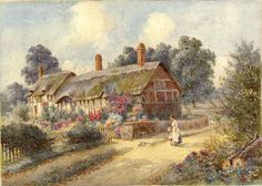 Ann Hathaway's Cottage, Stratford Country Cottages, Grand Homes, House Art, Contemporary Artists, Art Forms, Countryside, The Past, Ann, Castle