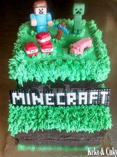pastel de minecraft