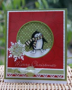 Merry Christmas Penguin by flicflac Mama - Cards and Paper Crafts at Splitcoaststampers