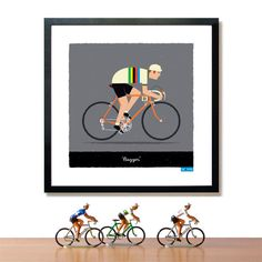 Cycling Art Print   35 Perfect Personalized Gifts To Give This Year