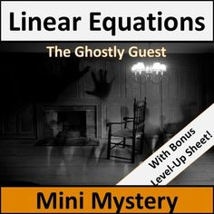 Linear Equations Activity - Mystery!