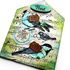 """There are 4 rubber stamps in this collection. The size of the birds are about 3"""" x 4"""" and the sentiment - fly home little bird - is about 1"""" x 2"""", and the words - feathers, birds, nests are about 2""""-1/2"""" x 2"""" -1/2"""". The stamps are trimmed to size and on a storage card. The stamps are made in the USA of premium cling mount red rubber. A Red Lead exclusive design. Stamping and Stitching Tip - Stamp with Ranger Archival Ink or Staz On Ink. Le..."""