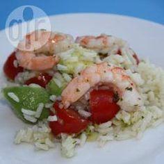 Recipe photo: Prawn and rice salad