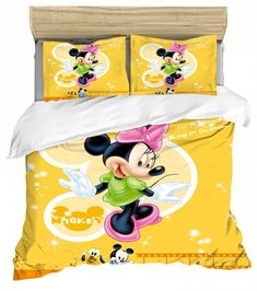 MINNIE MOUSE FULL SIZE DUVET COVER WITH TWO PILLOW CASES 3 PC SET Minnie Mouse Bedding, Disney Bedding, Mickey Minnie Mouse, Full Size Duvet Cover, Kids Bedding Sets, Soo Jin, Kids Blankets, Soyeon, Throw Pillow Cases