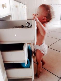 Diy Drawers, Kitchen Drawers, Baby Proof Drawers, Little Girl Rooms, Little Girls, Coffee Is Life, Old Kitchen, Baby Safety, Little Ones