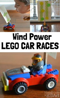 Wind Power LEGO cars! Explore the force of wind with this fun STEM activity for kids.