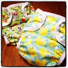 A Little Dancer: Cloth Diaper Tutorial: How to Make a Flip Cover - featuring #Babyville Playful Pond and Owl prints, so cute!