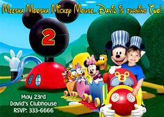 MICKEY MOUSE TRAIN BIRTHDAY PARTY INVITATIONS & FAVORS